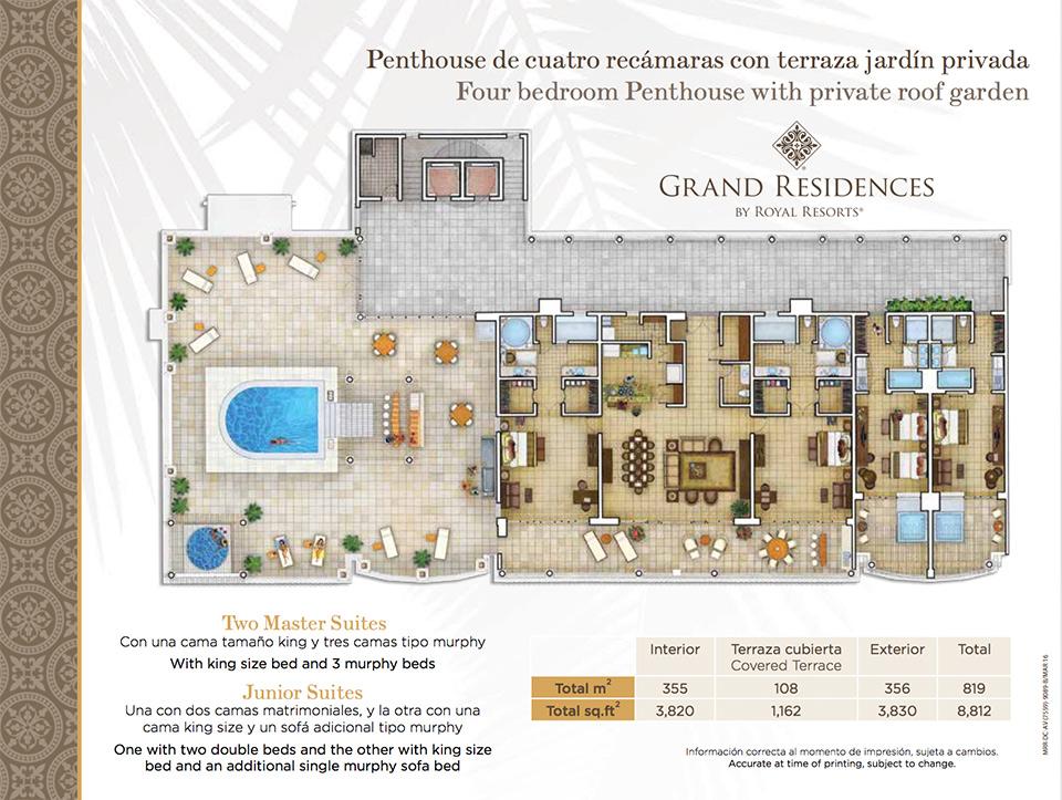 Grand residences video for Roof garden floor plan